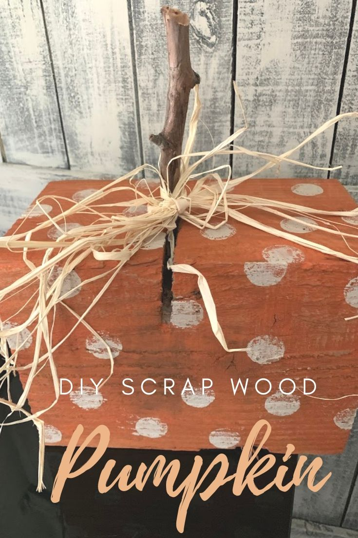 DIY Scrap Wood Pumpkin