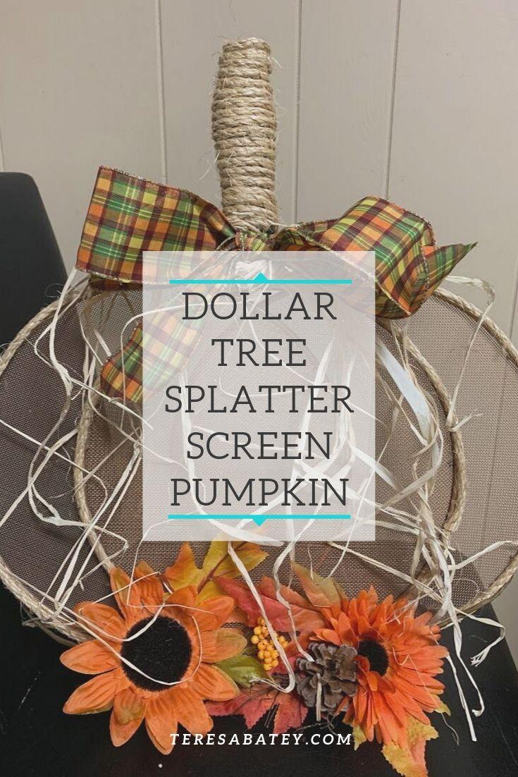 Dollar Tree Splatter Screen Pumpkin