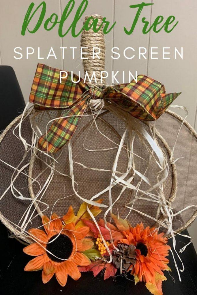 Dollar Tree Splatter Screen Pumpkin 4