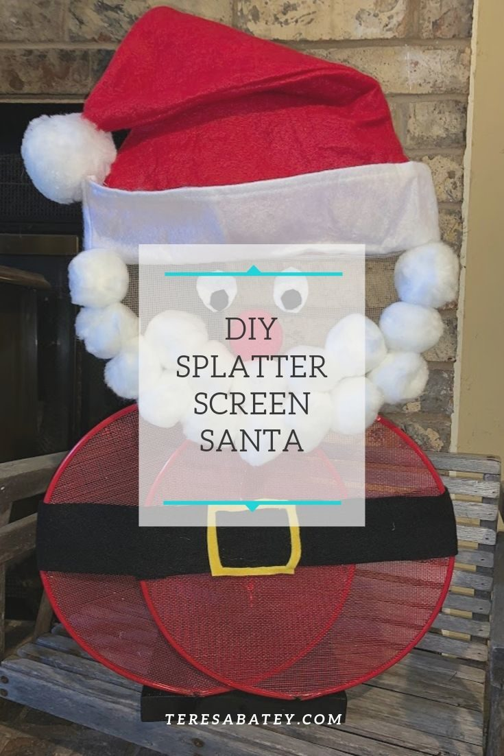 DIY Splatter Screen Santa