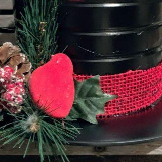 Dollar Tree Snowman Hat Centerpiece