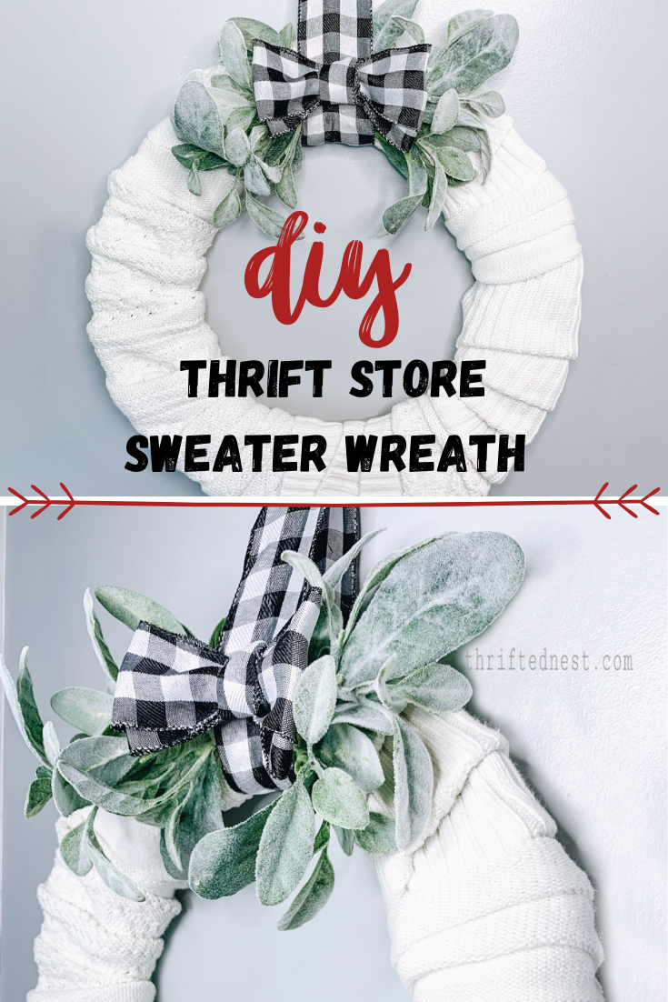 DIY Sweater Wreath – Thrift Store Sweater Upcycle