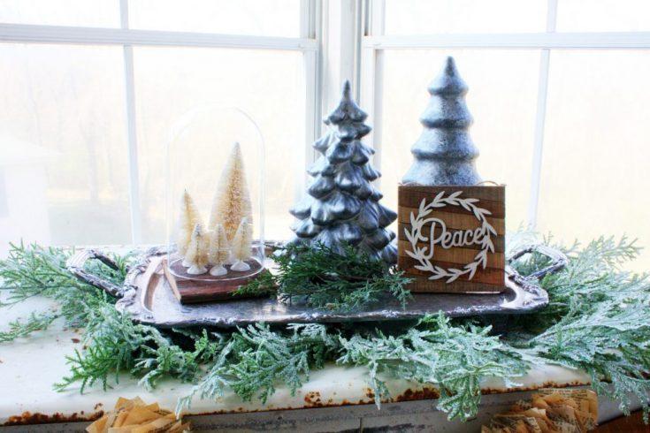 DIY Metallic Christmas Trees
