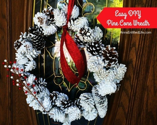 Easy DIY Pine Cone Wreath