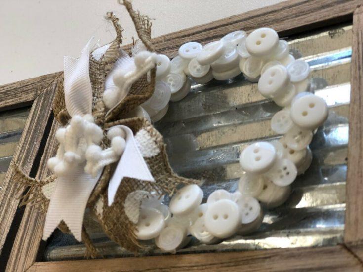Dollar Tree Mini Wreath JOY Sign