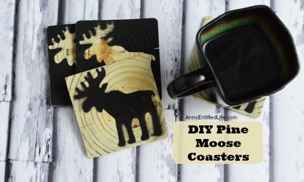 DIY Pine Moose Coasters