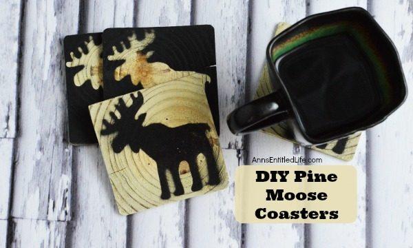 DIY Pine Moose Coasters