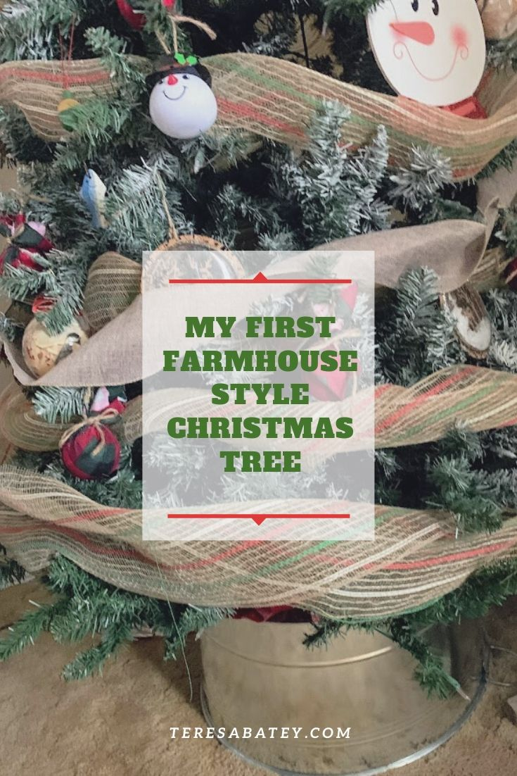 My First Farmhouse Style Christmas Tree