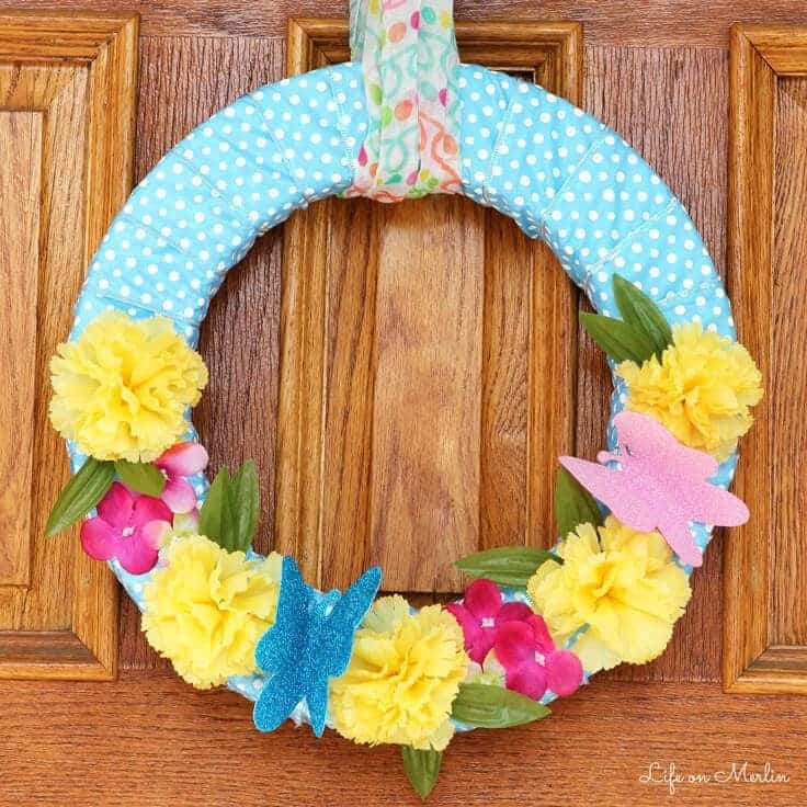 How to Make an Easy Dollar Store Spring Wreath