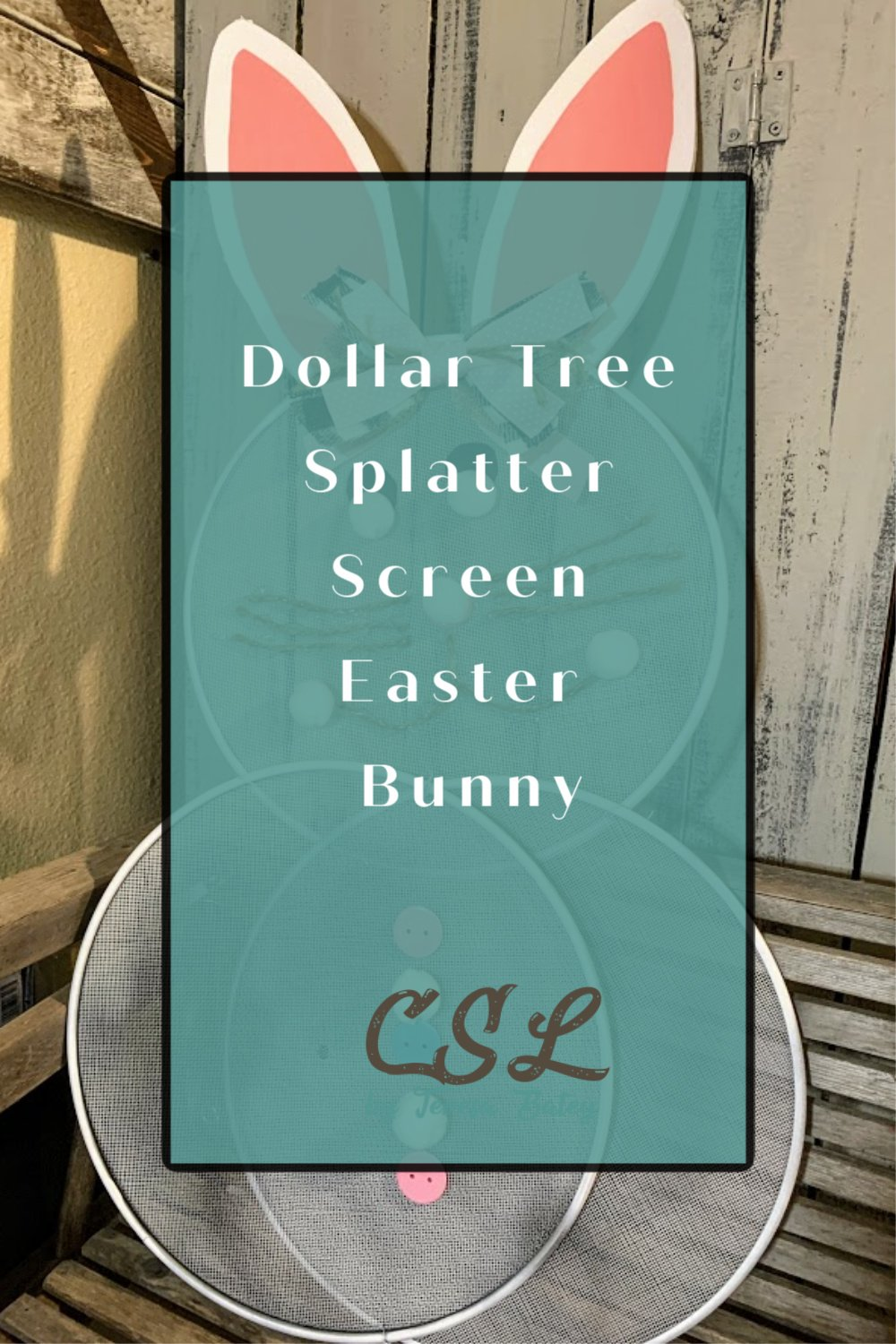 Dollar Tree Splatter Screen Easter Bunny