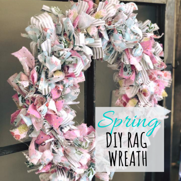 Super simple DIY, how to make a tied rag wreath for SPRING — Megan plus FIVE
