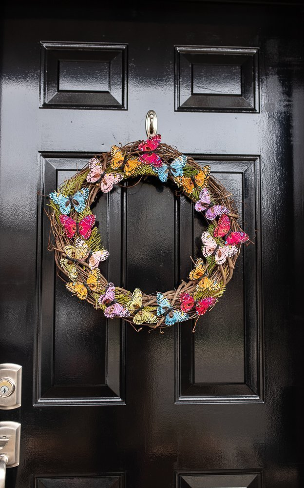DIY Butterfly Spring Wreath on a budget