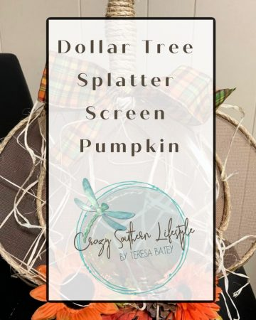 Dollar Tree Splatter Screen Pumpkin