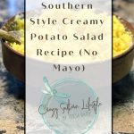Southern Style Creamy Potato Salad Recipe (No Mayo)