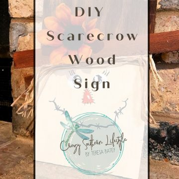 DIY Scarecrow Wood Sign