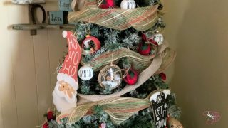 DIY Dollar Tree Christmas Ribbon Tree
