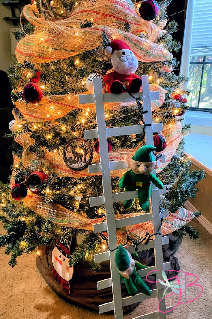 Dollar Tree DIY Christmas Elf Ladder