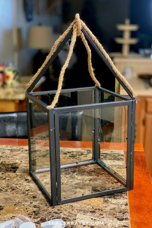 DIY Dollar Tree Farmhouse Lantern