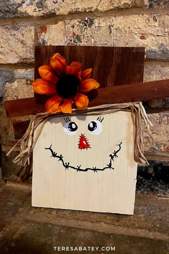 DIY Scarecrow Wood Sign
