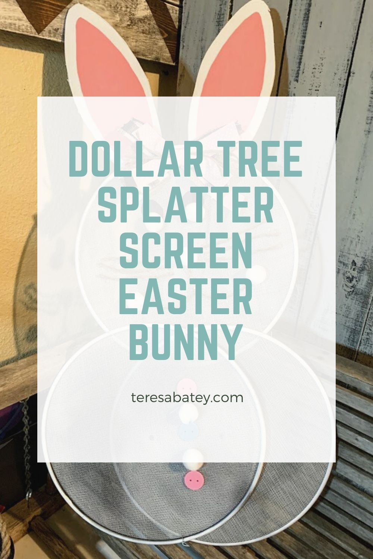Dollar Tree Splatter Screen Easter Bunny