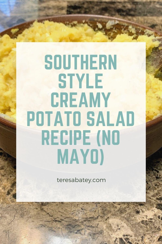 Southern Style Creamy Potato Salad Recipe (No Mayo)