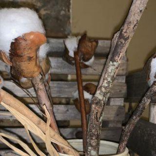 DIY Faux Cotton Stems
