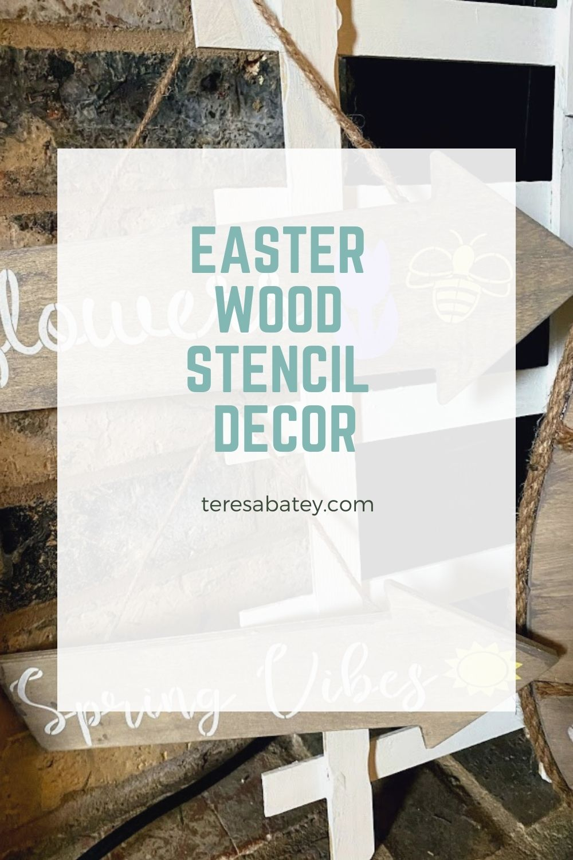 Easter Wood Stencil Decor