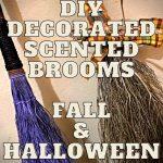 DIY Decorated Scented Brooms