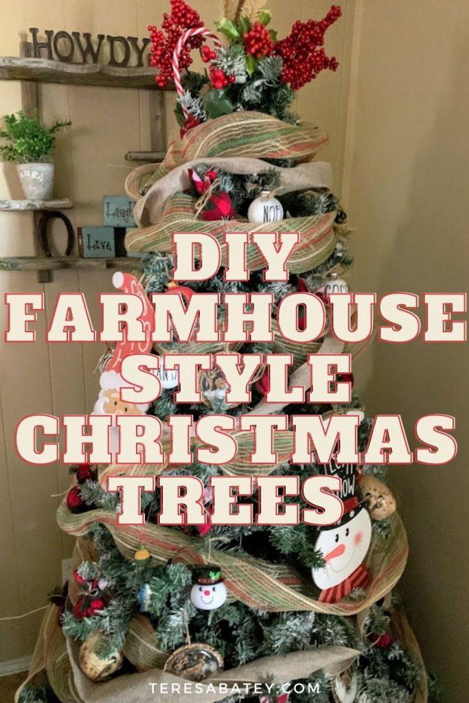 DIY Farmhouse Style Christmas Trees